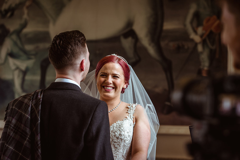castle wedding photographer scotland