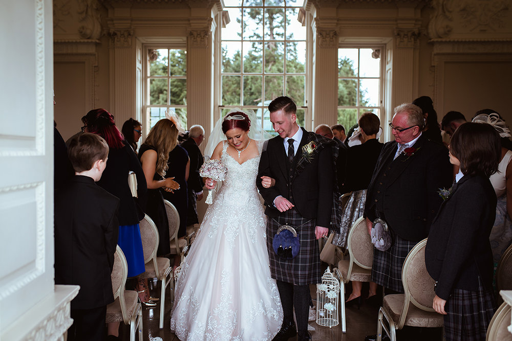 chatelherault wedding photographer ceremony
