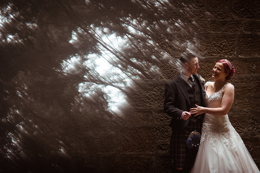 creative alternative wedding photographer glasgow scotland