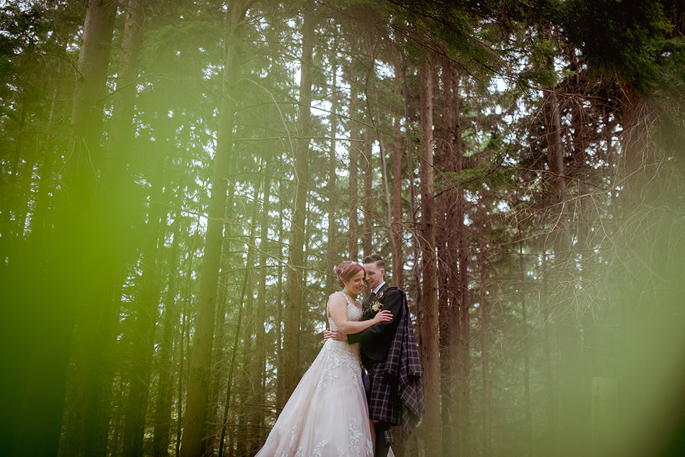 forest wedding scotland woodland glasgow