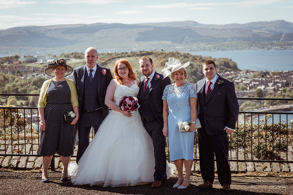 lyle hill wedding photographs gourock greenock