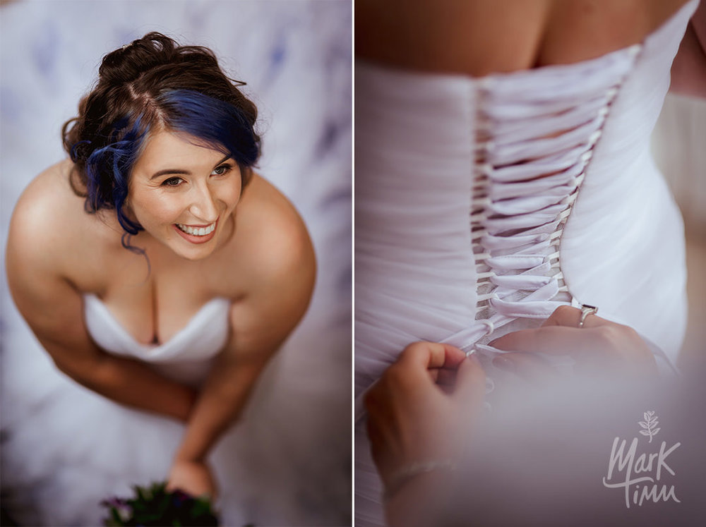 blue hair wedding rock chick
