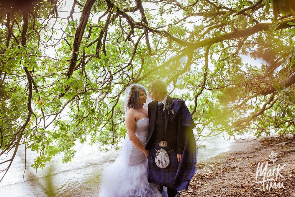 natural wedding photography cruin loch lomond