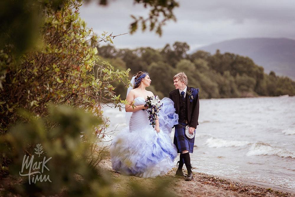 the cruin wedding beach scenery