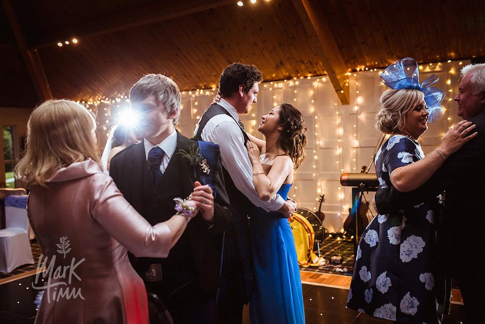 blue bridesmaid dress dancing