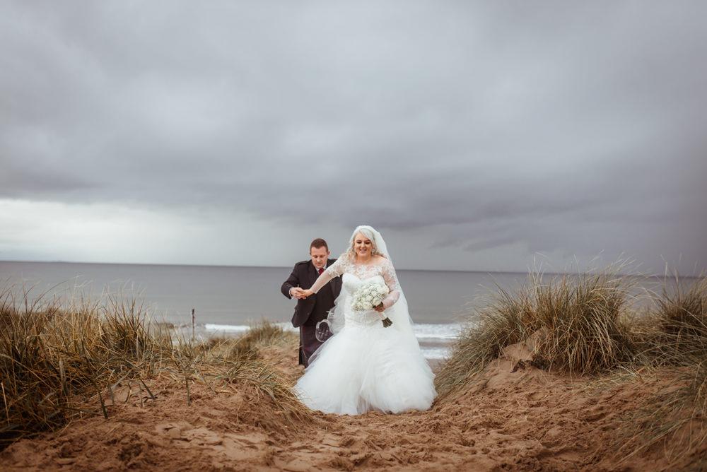 Scottish beach wedding ayrshire photographer