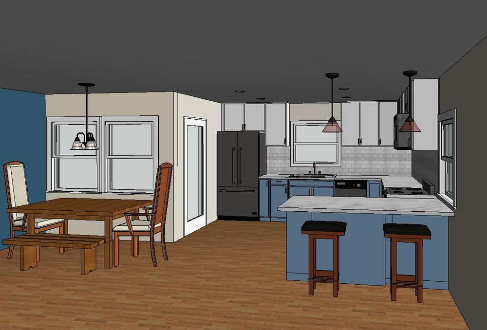 Bringing the vision to you - Do you have an idea of what you want to build but feel lost in seeing the final result?We offer a design/build experience for home remodeling and additions! We model your space before any contracts are signed so you can see exactly what you're receiving, ensuring your project comes to life as you imagined. See more of our designs here.