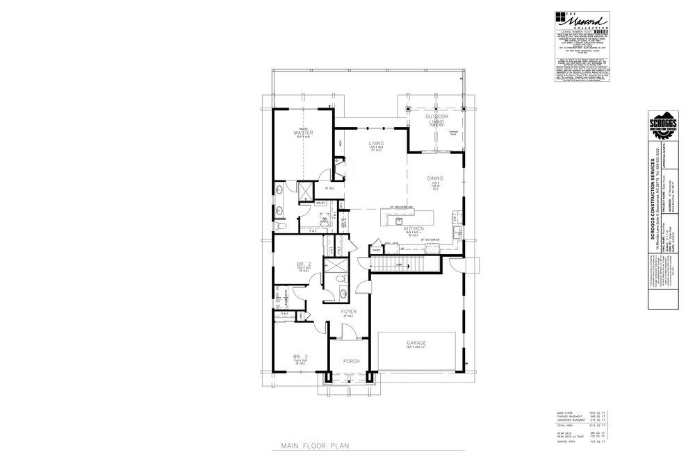 Spec House Asheville Floor Plan