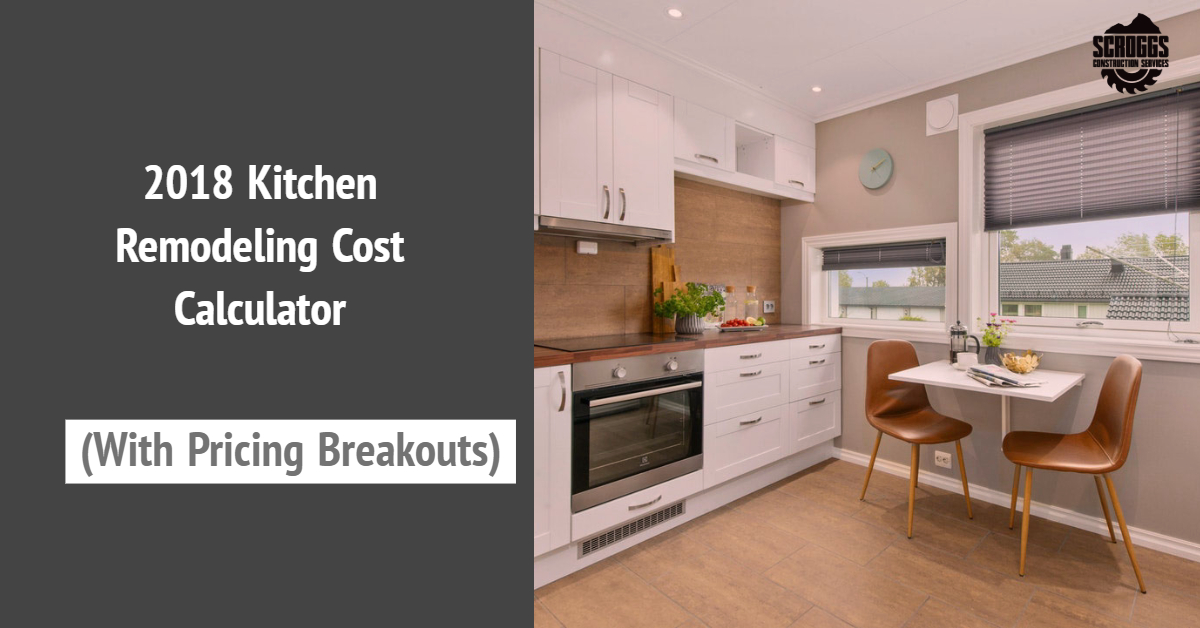 The Top Kitchen Remodel Cost Calculator Of 2018 With Real