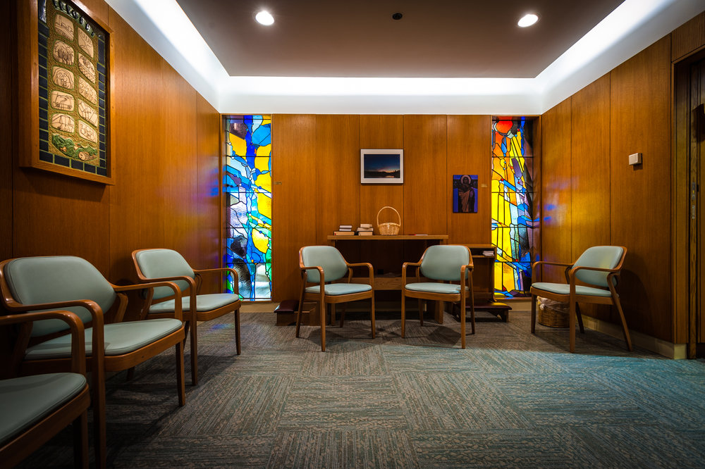 The renovated Wolfson Chapel, on the hospital's east Campus, was formerly a Jewish prayer space.