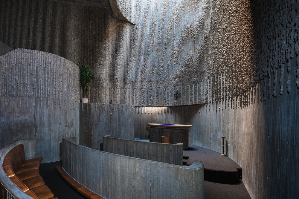 - Designed by architect Paul Rudolph as a progressive mental health center and opened in 1971, the chapel in the Erich Lindemann Mental Health Center was added late in the planning process.