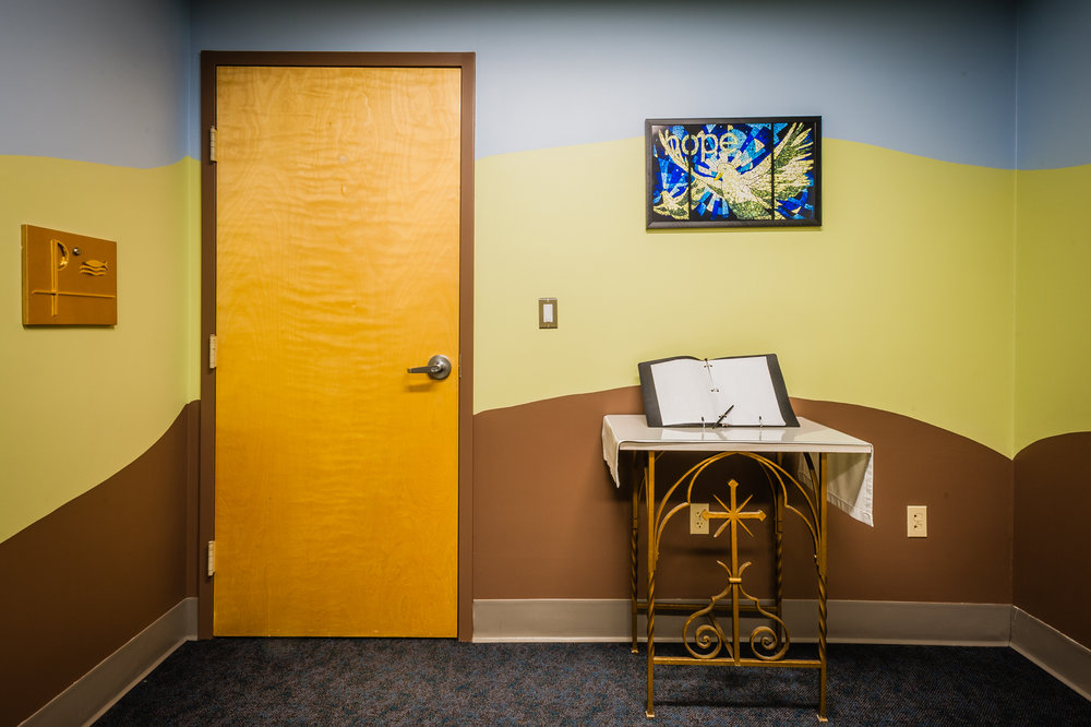- A small rectangular room off a main corridor houses the chapel at Franciscan Children's  in Brighton.