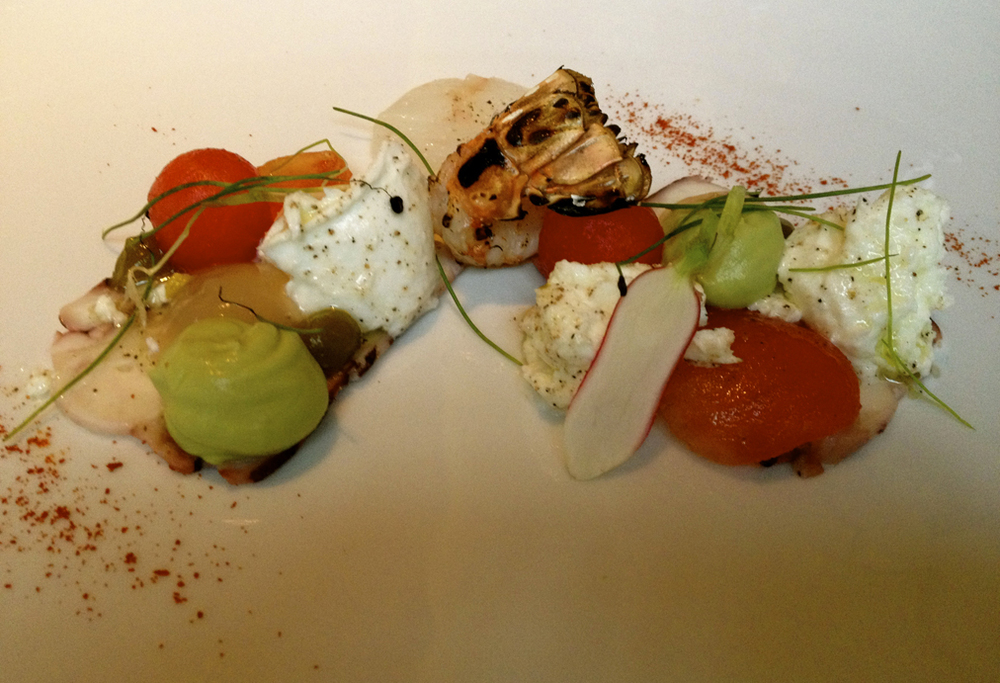 A seafood dish from Diamanz in Roermond