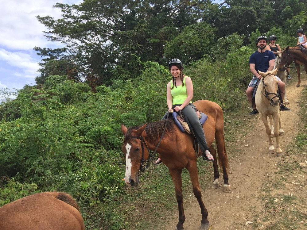 Horseback riding in Montego Bay, Jamaica with Chukka. This was one of the only real trails I've been on over the past few months and it was super fun!