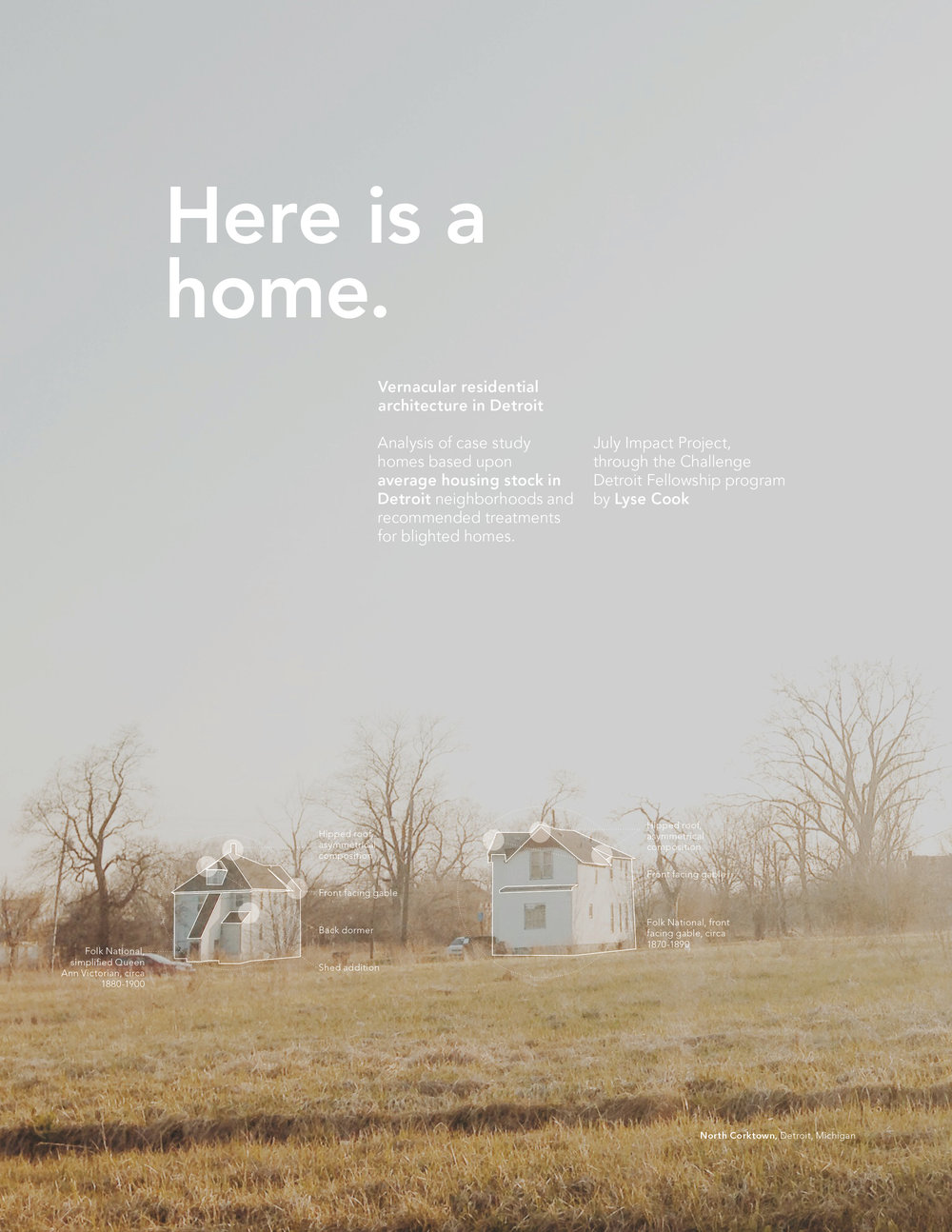 Here is a Home   Economic, political and architectural research of issues surrounding Detroit's housing stock.