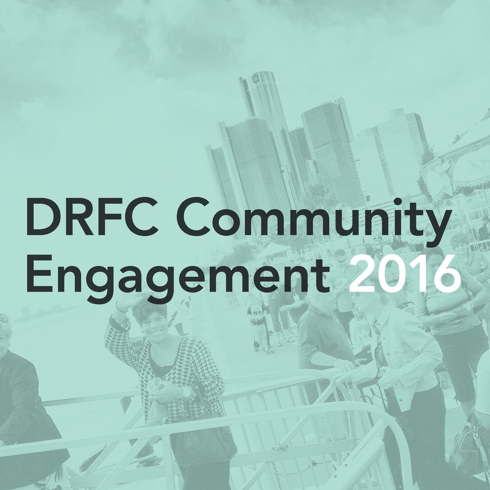 Detroit River Front Conservancy:  2016    Survey and focus group analysis, recommended improvements and next steps.