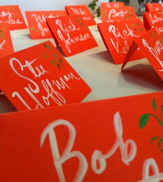 placecards red
