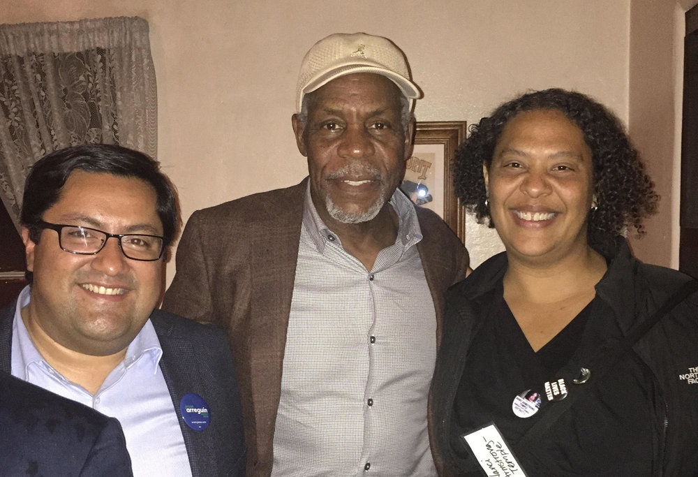 Jesse Arreguin (Candidate for Berkeley Mayor), Danny Glover, Nanci Armstrong-Temple (Candidate for District 2 Berkeley City Council)