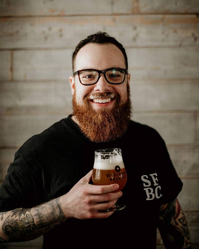 This is Aidan. He's part of the front of house team at Steel Wheel. You may have chatted with him across the bar and learned that he has three cats, or that he's the only person that's worked at all 3 breweries in Brant County. What we've learned is that he's pretty damn amazing. Cheers to you Aidan 🍻 📸: @pecanstudios