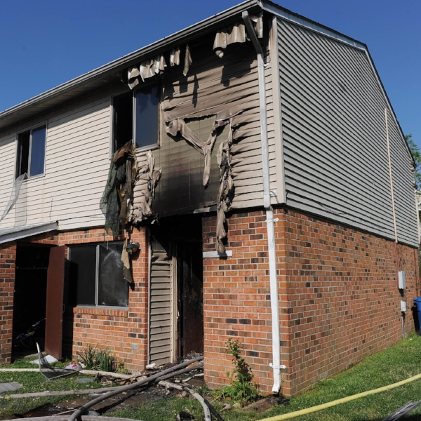 This electrical fire caused $100,000 in damages. Three families were involved.