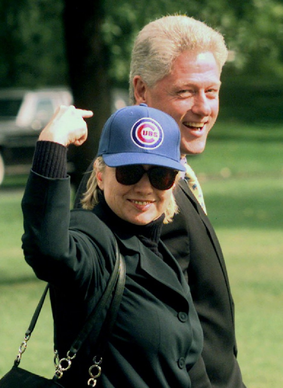 Hillary rooting for her hometown team