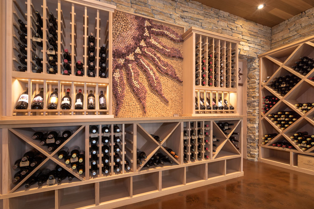 Cedar Wine Display