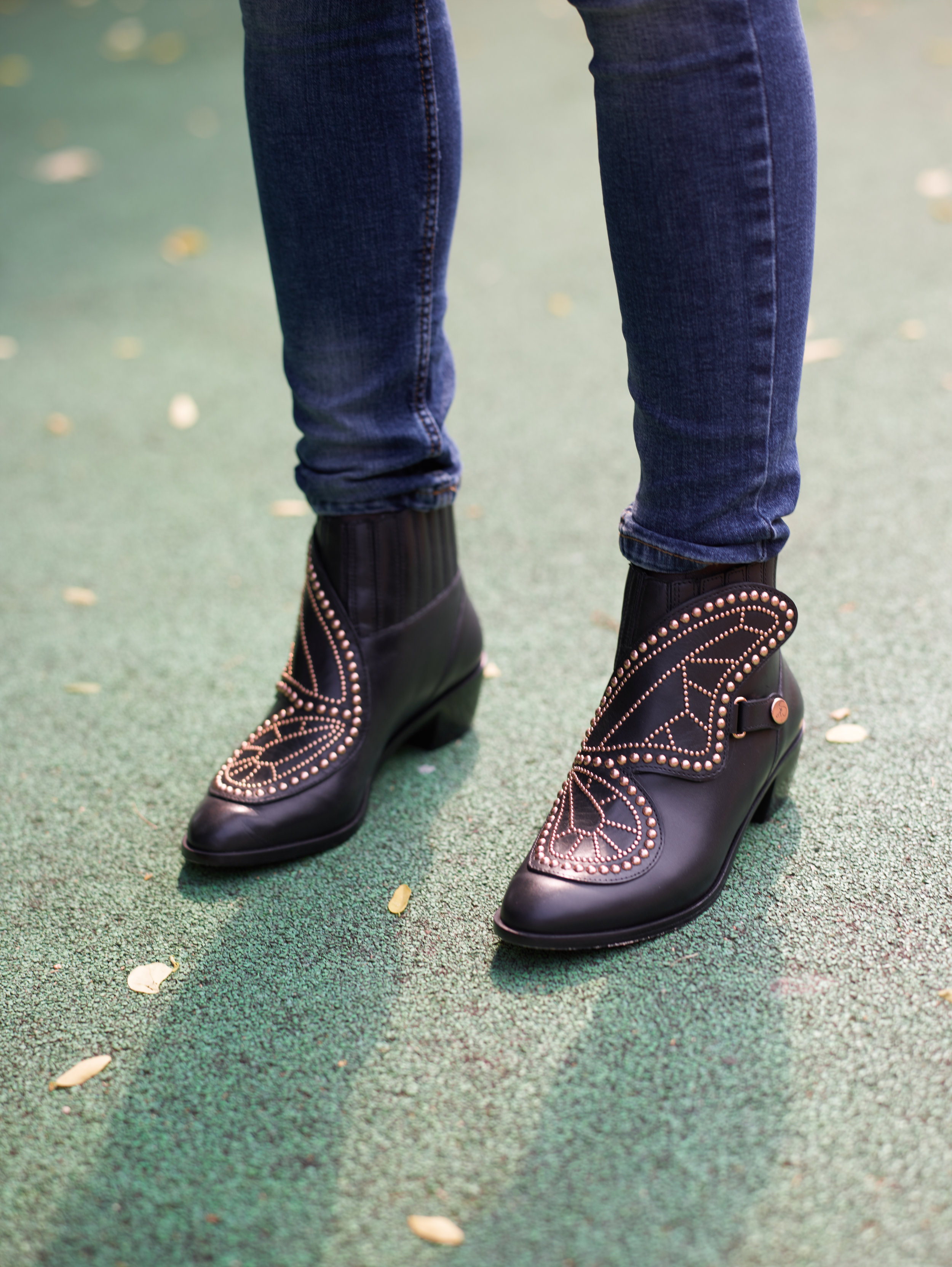685d493f48f Adorned Black Ankle Boots — Cover Mum