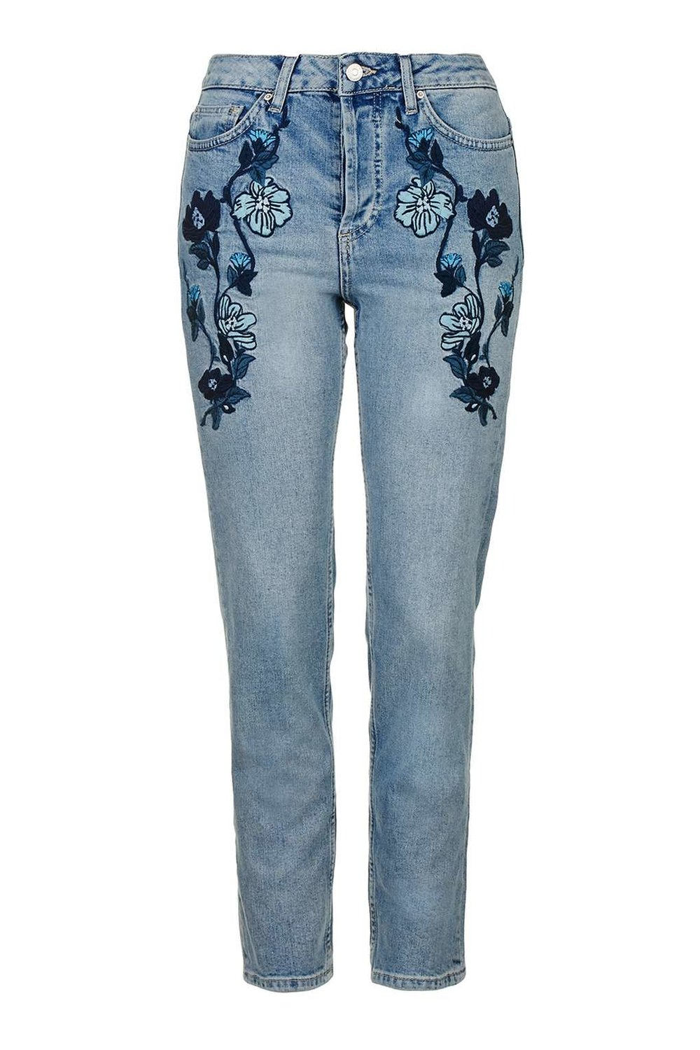 Topshop Blue EMbroidered Jeans.jpg