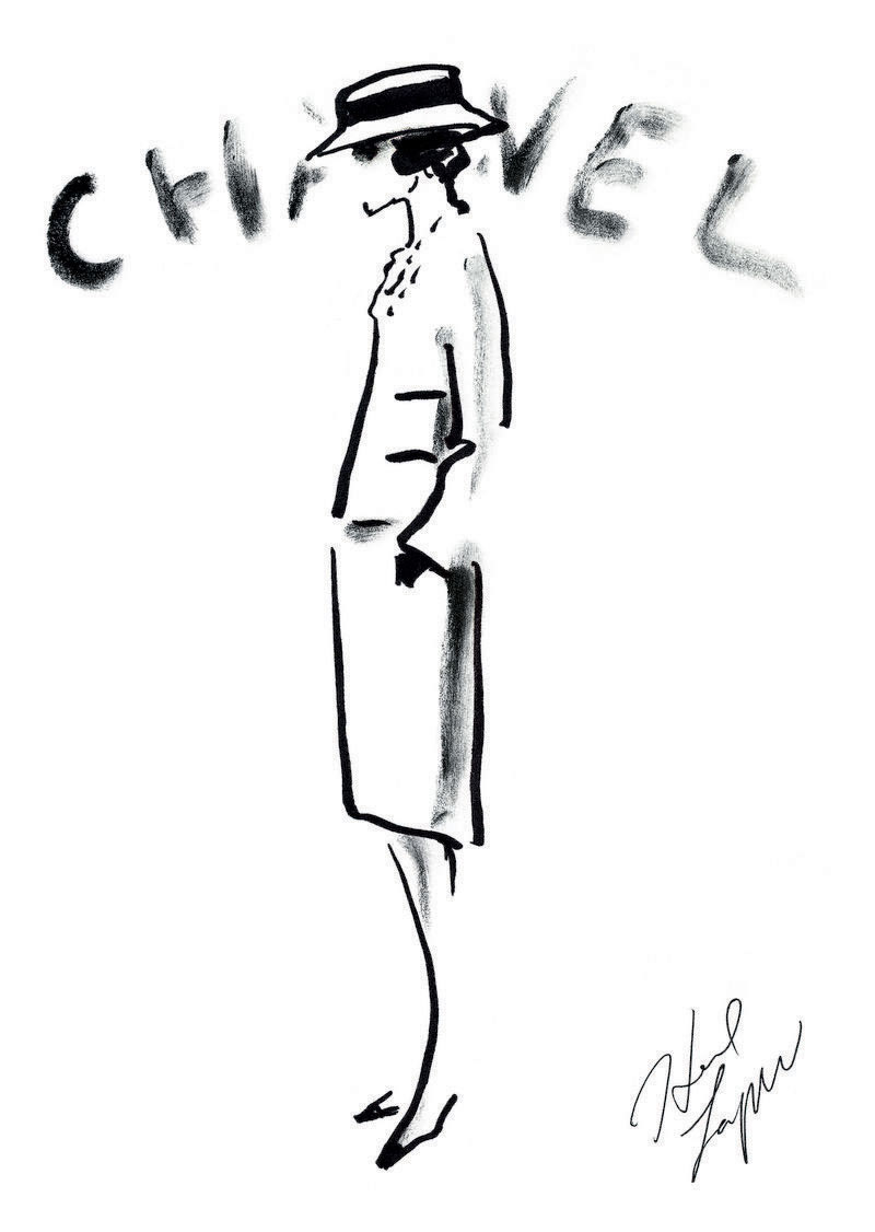 Drawing by Karl Lagerfeld
