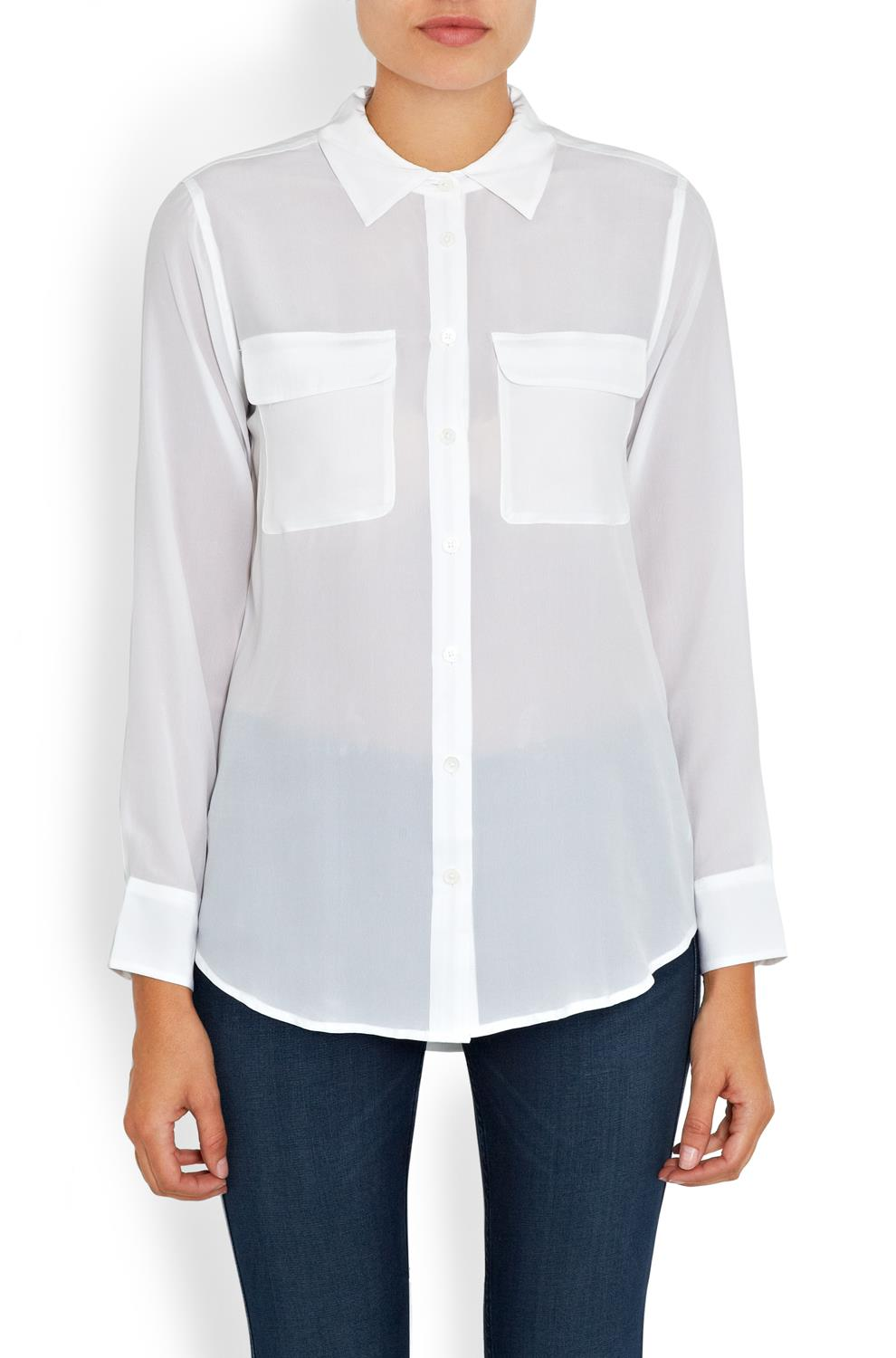 Slim Signature Shirt (100% silk) by Equipment, £225 at Trilogy Stores