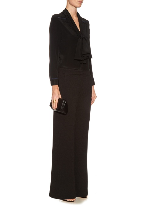 Love this understated yet ultra chic version from  See by Chloé  (one of my favourite designer brands), currently 40% off on Matches Fashion at £276.  Long-sleeved Neck-Tie Jumpsuit