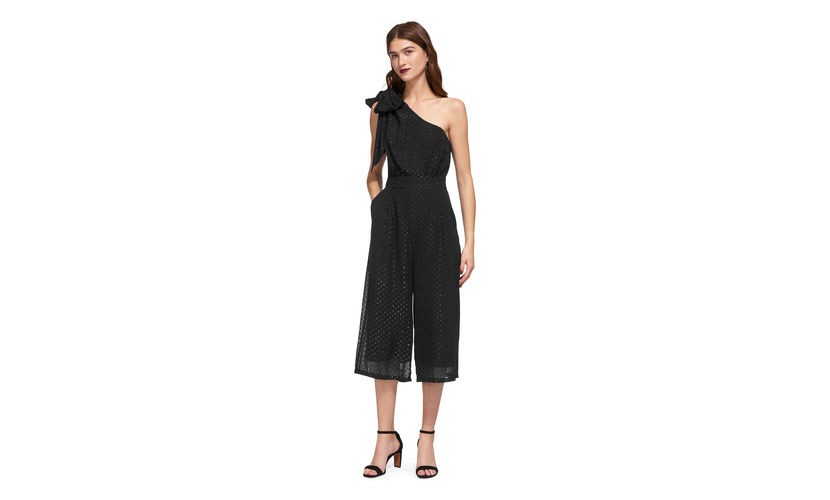For a more daring and revealing style, I quite fancy this polka dot asymmetric jumpsuit from  Whistles , and at £80 (60% off) it is pretty hard to resist...  Kiki Spot Jumpsuit
