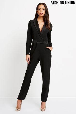For an actual tuxedo jumpsuit at a very affordable price.  Fashion Union Tuxedo Jumpsuit , £28