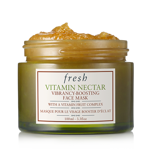 Fresh   Vitamin Nectar Face Mask , £56.  New product, new discovery. It feels like covering your face with zesty crushed fruit only without being as messy.