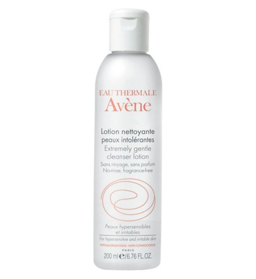 Avene Extremely Gentle Cleanser, £10.50 (at Boots). When I feel too lazy to put water on my face, this is the most tolerable make up remover I have ever tried (and believe me I have tried many as I tend to have allergic reactions to any chemicals applied on my eyelids, just the eyelids weirdly).