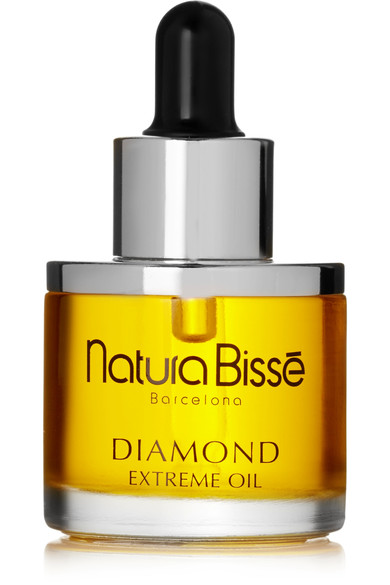 Natura Bissé   Diamond Extreme Oil , £127 on Net-a-Porter.  Hugely expensive. Never actually bought it but got some samples once from Net-a-Porter and I am using them preciously every week. Combined with the Diamond extreme mask (below) this takes the art of skincare to a whole new level. I may actually consider buying it when I run out (that is if Net-a-Porter is not kind enough to send me more to try...).