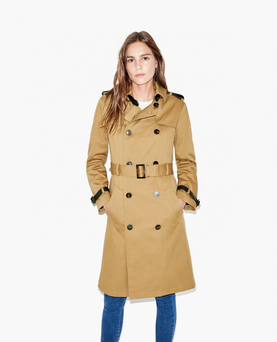 The Kooples ,  Trench Coat with Leather Detail , £197.50 (half price) -  Traditional cut but clearly modernised by the  leather details.