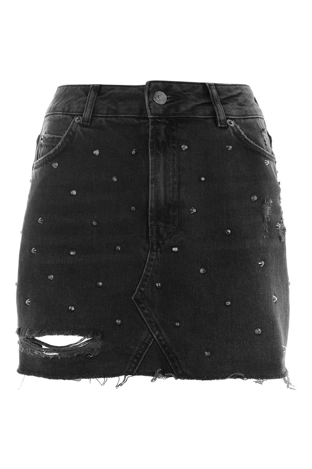 4d52d7aaef Topshop Button Down Denim Skirt