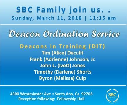 SBC Deacon Ordination Service