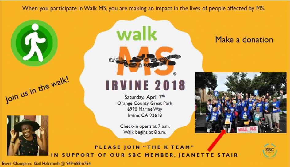 Walk MS - Irvine - 2018