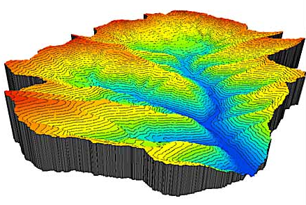 A sample 3D model made from a DEM. Credit: University of Utrecht