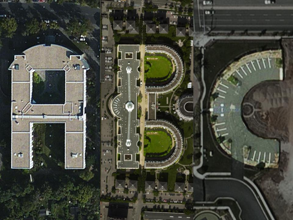 Sample of the satellite imagery used to create the Aerial Bold font. Photo courtesy of Aerial Bold and www.kickstarter.com.