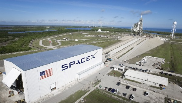 SpaceX launch pad at Kennedy Space Center. Photo courtesy of NASA