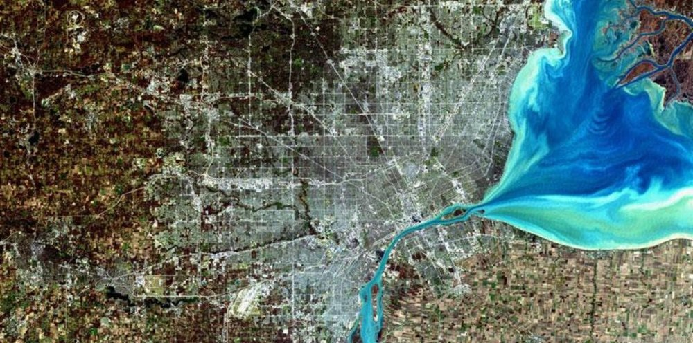 Detroit Michigan USA - LandSat 8 image