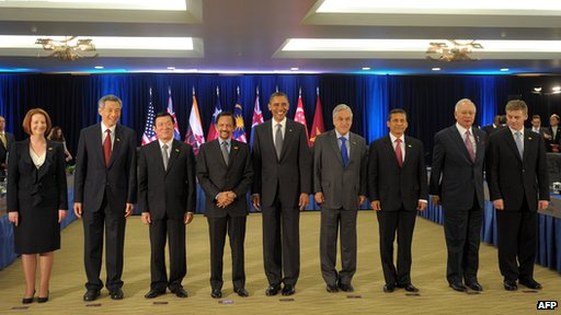 Leaders of TPP Member countries Image courtesy of the BBC (bbc.co.uk)