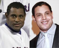 Sammy Sosa before and after skin bleaching. Image courtesy of The New York Times (nytimes.com)