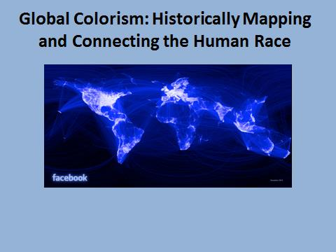 Image 1: Facebook advanced image of the earth's interconnection of the human race.