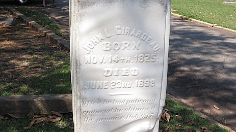Dr. Girardeau's gravestone at Elmwood Cemetery, Columbia, SC