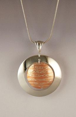 Sterling silvermokume gane pendant pm03 studio seven arts sterling silvermokume gane pendant pm03 aloadofball Gallery