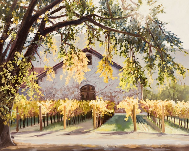 Winery in the Fall 24 x 30 Original Oil.jpg